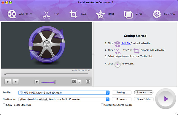 Avdshare Audio Converter for Mac
