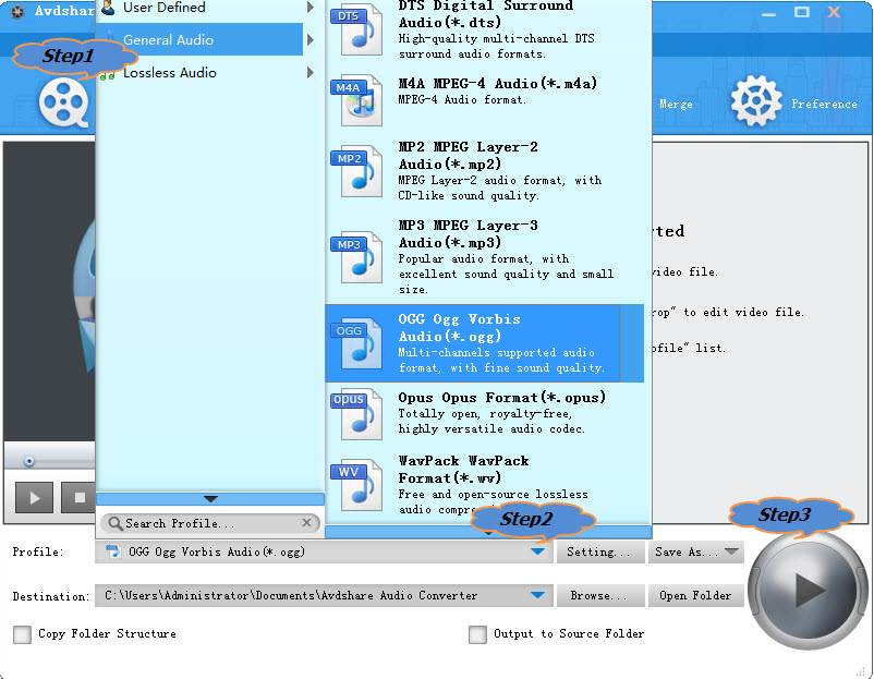 how to make ogg files